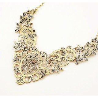 Fave Gold Color Hollow Out Alloy Necklaces