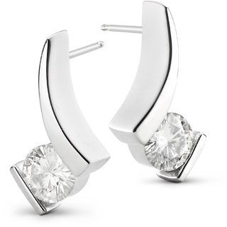 Silvosky Charming Rhodium Plated Silver Stud Earring SE2001