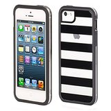 Griffin Cabana Seperates Back Case Cover For Apple IPhone 5 / 5S - Black / Clear