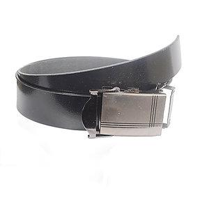 Aam Shopping Men Black Genuine Leather Belt ASB00683