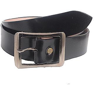 Aam Shopping Men Black Genuine Leather Belt ASB00684