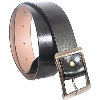 Aam Shopping Men Black Genuine Leather Belt ASB00685