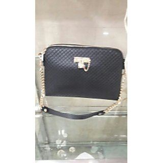 Hot black sling bag