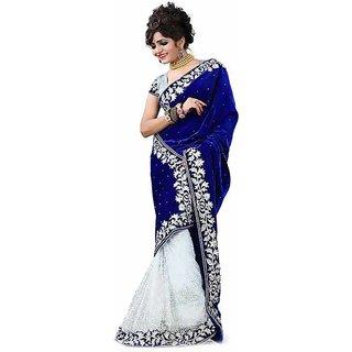 Blue Velvet Saree