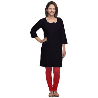 Beautiful Black Cotton Kurti For Women