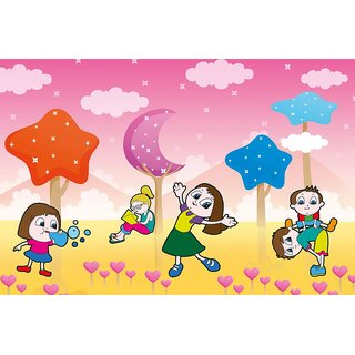 Walls and Murals Starry Fairyland Kids Peel and Stick Wallpaper in Different Sizes (48 x 72)
