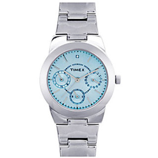 Timex Quartz Blue Round Women Watch J102