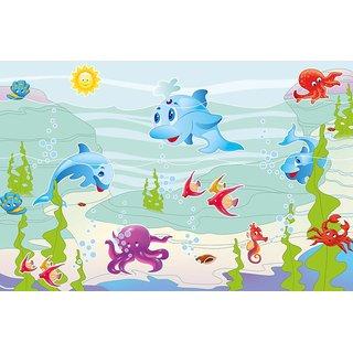 Walls and Murals Underwater Adventures Ocean Peel and Stick Wallpaper in Different Sizes (48 x 72)