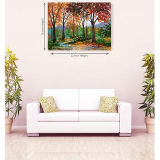 Multi Color Land Scape Romantic Canvas Painting