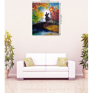 Romantic Couple in Flying Way Gifts For Valentine Canvas Painting