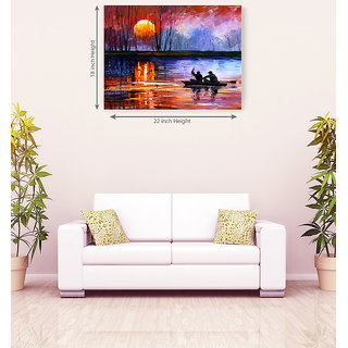 Sunset Colorful Attractive Romantic Canvas Painting