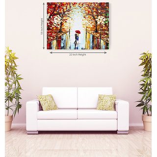 Sweet Couple Floral Romantic Canvas Painting