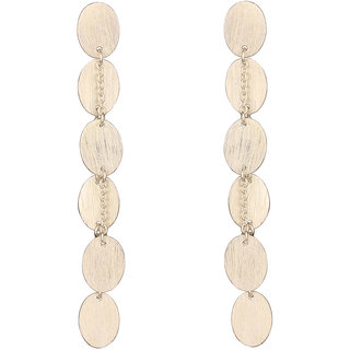 Mirror White 925 Sterling Silver Matt Oval Earrings (MWSS417)