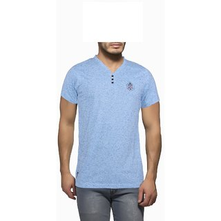 Getzen Mens Cotton Tshirt(AT-0104-1 Light Blue)