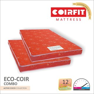 COIRFIT ECOCOIR -(75x30x4 inches) Combo (Buy 1 Get 1 FREE)
