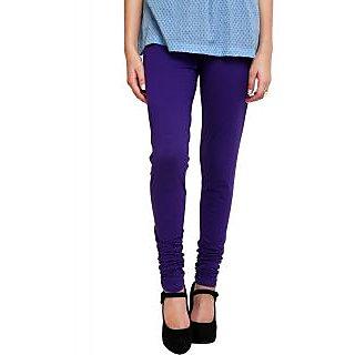 Escan Purple Lycra Solid Legging