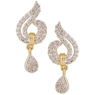 Tyllo Gold Plated CZ American Diamond  Earring