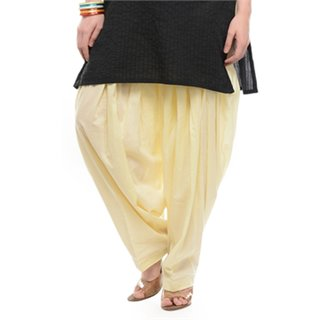 Escan White Cotton Plain Salwar