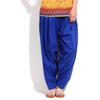 Escan Blue Cotton Plain Salwar