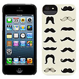Griffin Mustachio Hard Back Case Cover For Apple IPhone 5, 5S - Black / Ecru