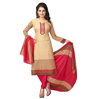 CottonPrinted Unstitched Regular Wear Dress Material