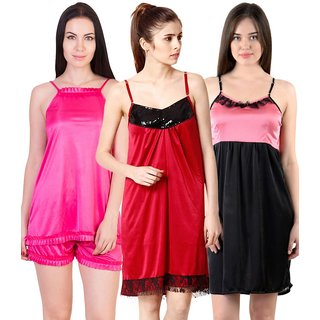 6a87d22275 Buy Cliths Womens Stylish Sexy Nighty-Pack of 3 CL-NTY-102857 Online ...