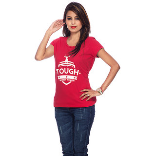 Round Neck Tough Woman T-Shirt