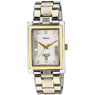 Timex Empera Silver Dial, Silver+Golden Strap Analog Watch For Men - TW000G714