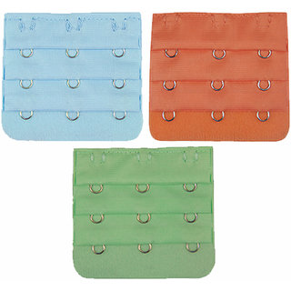 AAYAN BABY Sky Blue ,Orange and Mint Green  Combo 3 Hook Bra Strap Extender (Pack of 3)