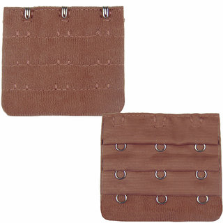 AAYAN BABY Brown 3 Hook Bra Strap Extender  (Pack of 1)