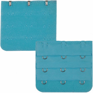 TIMI Light Blue 3 Hook Bra Strap Extender  (Pack of 1)