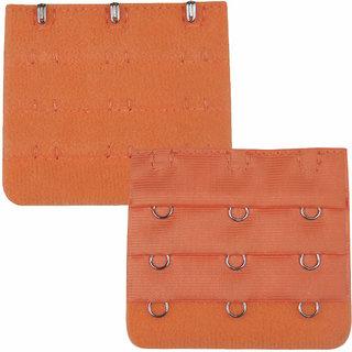 AAYAN BABY Orange 3 Hook Bra Strap Extender  (Pack of 1)