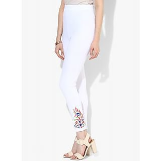 woman white legging