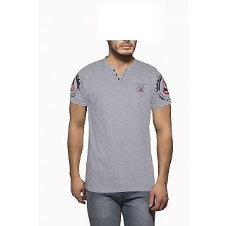 Getzen Mens Cotton Tshirt(AT-0128-1 Grey)