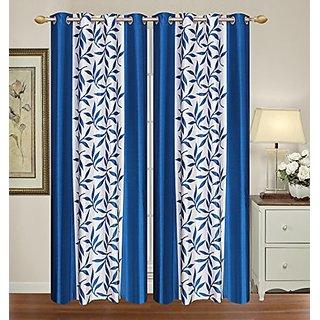 ellow Weaves 2 Piece Multi Door Curtain - 4 Ft X 7 Ft