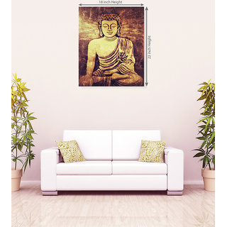Gautam Buddh Oil Canvas Painting