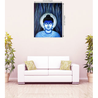 God Buddha Shadow Canvas Painting
