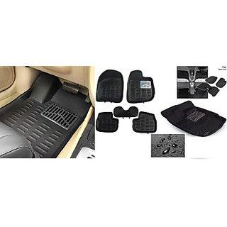 ROYAL Assorted Floor Mat 3D Type For Maruti Suzuki Wagon R (Black)