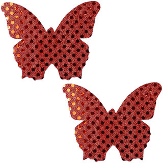 AAYAN BABY Red Butterfly Polyester Peel and Stick Disposable Nipple Covers