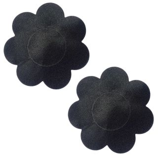 AAYAN BABY Black Flower Polyester Peel and Stick Disposable Nipple Covers