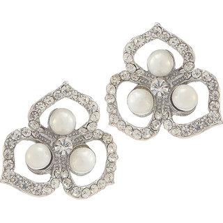 BIYU antique deign silver plated CZ moti earring set