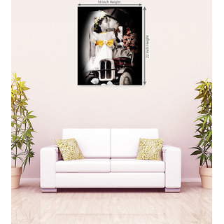 Cute Baby Romance With Flower Romantic Canvas Painting
