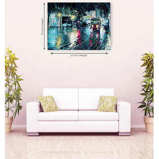 Darkness Roadways Romantic Canvas Painting