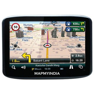 MapmyIndia LX440 Touchscreen 3D GPS Navigation With Audio  Video Playback