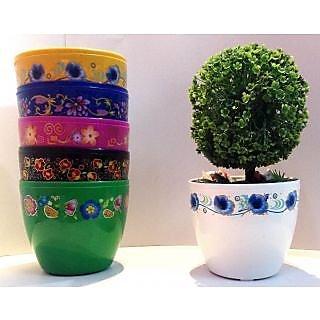 Cool Flora Pot Set Of 2Pcs White Color Without Plant