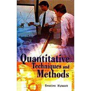 Quantitative Techniques And Methods
