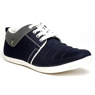 Clymb Men's Blue Gray Lace-up Smart Casuals