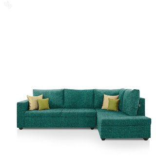 Comfort Couch Lounger Sofa Set with Turquoise Upholstery - Premium