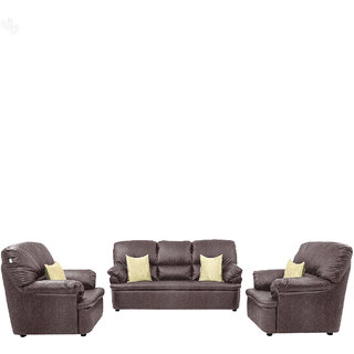 Comfort Couch Sofa Set with Metallic Plum Upholstery - Premium