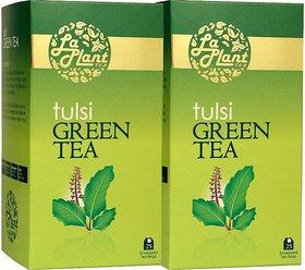 LaPlant Tulsi Green Tea - 50 Tea Bags (Pack of 2)